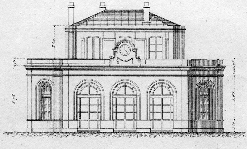 Gare de la maison blanche 1867 association sauvegarde for Architecture de la maison blanche