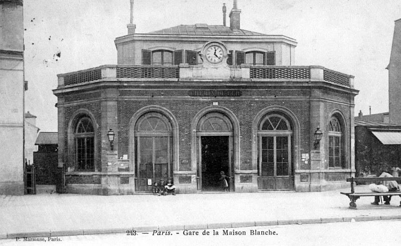 Gare De La Maison Blanche 1867 Association Sauvegarde Petite Ceinture