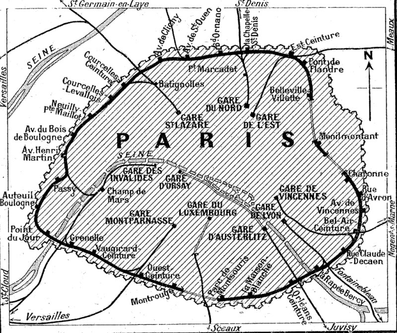 History of the Petite Ceinture railway line of Paris Association