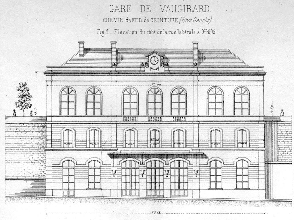 Gare de vaugirard ceinture 1867 association sauvegarde for Plan des facades